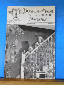 Boston & Maine Railroad Employee Magazine 1952 December