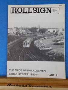 Rollsign Magazine of New England Transit News 1983 July August Broad St Stn