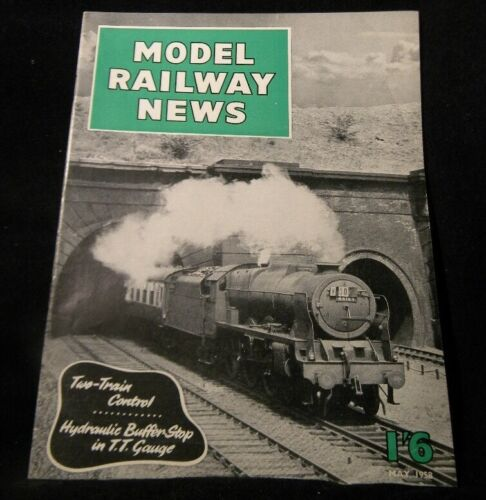 Model Railway News 1958 May Hydraulic bufer shop TT gauge 2 train control