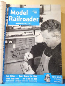 Model Railroader Magazine Suckert style binder 1952 Vol 19 January-December 1952