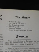 Extra 2200 South 1968 November Stapled SLSF GP SD 35 rosters