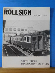 Rollsign Magazine of New England Transit News 1973 Jan North Shore Transportati