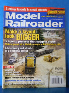 Model Railroader Magazine 2009 March Make gravel pit Model a canyon Add hills