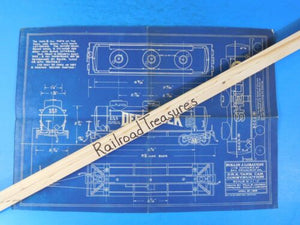 Blueprint / Drawing DRX Tank Car Construction 1/4 inch scale