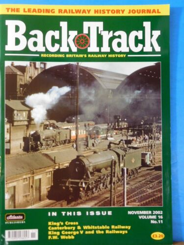 Back Track Magazine 2002 November Britain Railway History King's Cross C&W Ry