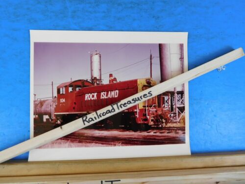 Photo Rock Island Railroad Locomotive #934 8 X 10 Color Dallas TX 1979