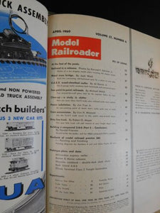 Model Railroader Magazine Complete year in MR blue binders 1960 12 issues