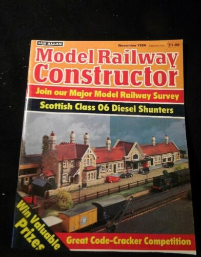 Model Railway Constructor 1986 November Scottish class 06 diesel shunters Canals