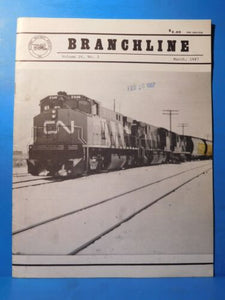 Branchline Canada's Rail News Magazine 1987 March Hinton Blamed on Human Error