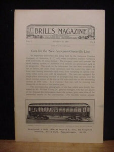 Brill Magazine 1907 August 15 Reprint Centrifugal sprinkling cars Anderson-Green