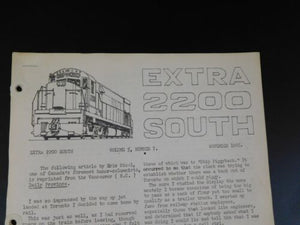 Extra 2200 South 1965 November V5#7 Early EMD Switchers Roster