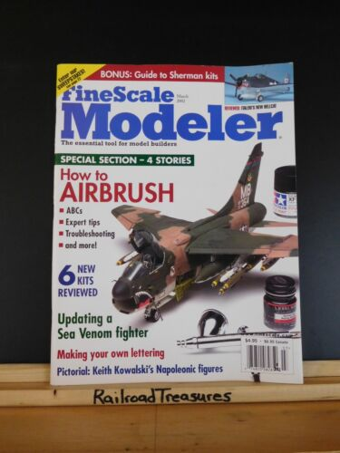 FineScale Modeler 2002 March How to airbrush Make your own lettering