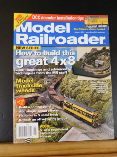 Model Railroader Magazine 2012 January Model trackside weeds Build control panel