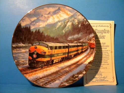 Golden Age of American Railroads Plate Collection Empire Builder #0225B GN