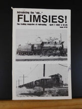 Flimsies West Issue #152 April 1, 1993 News Magazine of Western Railroading