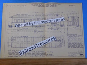 Blueprint Denver & Rio Grande Western Coaches #256-321 1955 Drawing