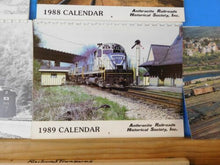 Anthracite Railroads Historical Society Calendars Lot of 5 various 1983-2000