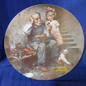 Norman Rockwell The Cobbler Rockwell Heritage Collection Knowles