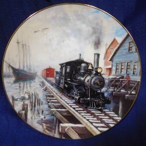 Winter Rails Plate Collection By Sea or Rail by Ted Xaras The Hamilton Collection