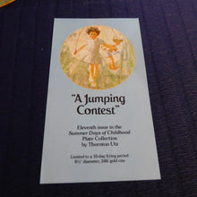Summer Days of Childhood A Jumping Contest by Thornton Utz
