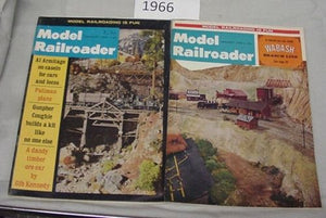 Model Railroader Magazine Complete Year 1966 12 issues