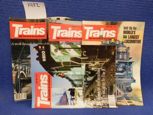 Trains Magazine Complete Year 1982  12 issues