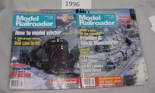 Model Railroader Magazine Complete Year 1996 12 issues Complete Year