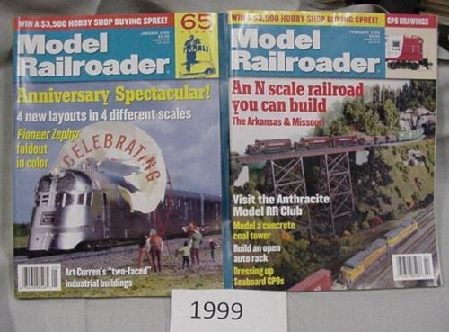 Model Railroader Magazine Complete Year 1999 12 issues