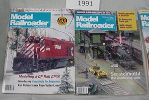 Model Railroader Magazine Complete Year 1991 12 issues