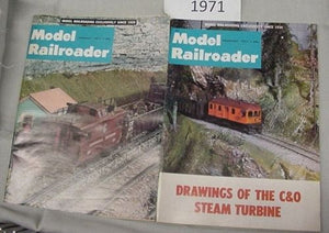 Model Railroader Magazine Complete Year 1971 12 issues