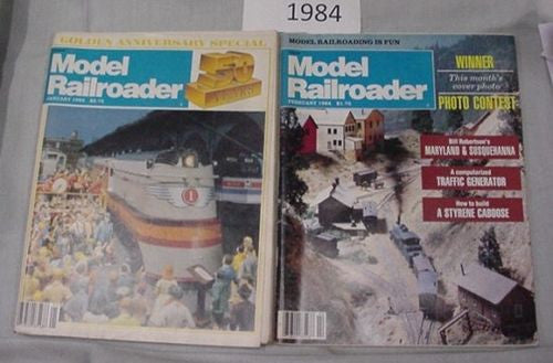 Model Railroader Magazine Complete Year 1984 12 issues