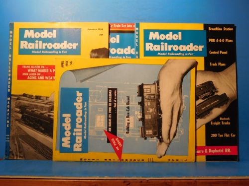 Model Railroader Magazine Complete Year 1957 12 issues
