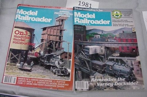 Model Railroader Magazine Complete Year 1981 12 issues