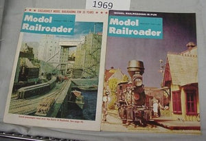 Model Railroader Magazine Complete Year 1969 12 issues