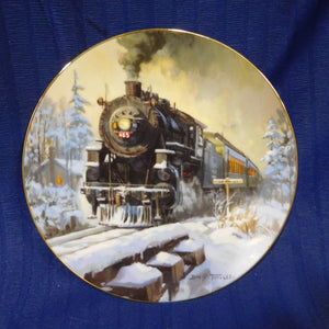 Romance of the Rails Plate Collection Pine Tree Limited by David Tutwiler