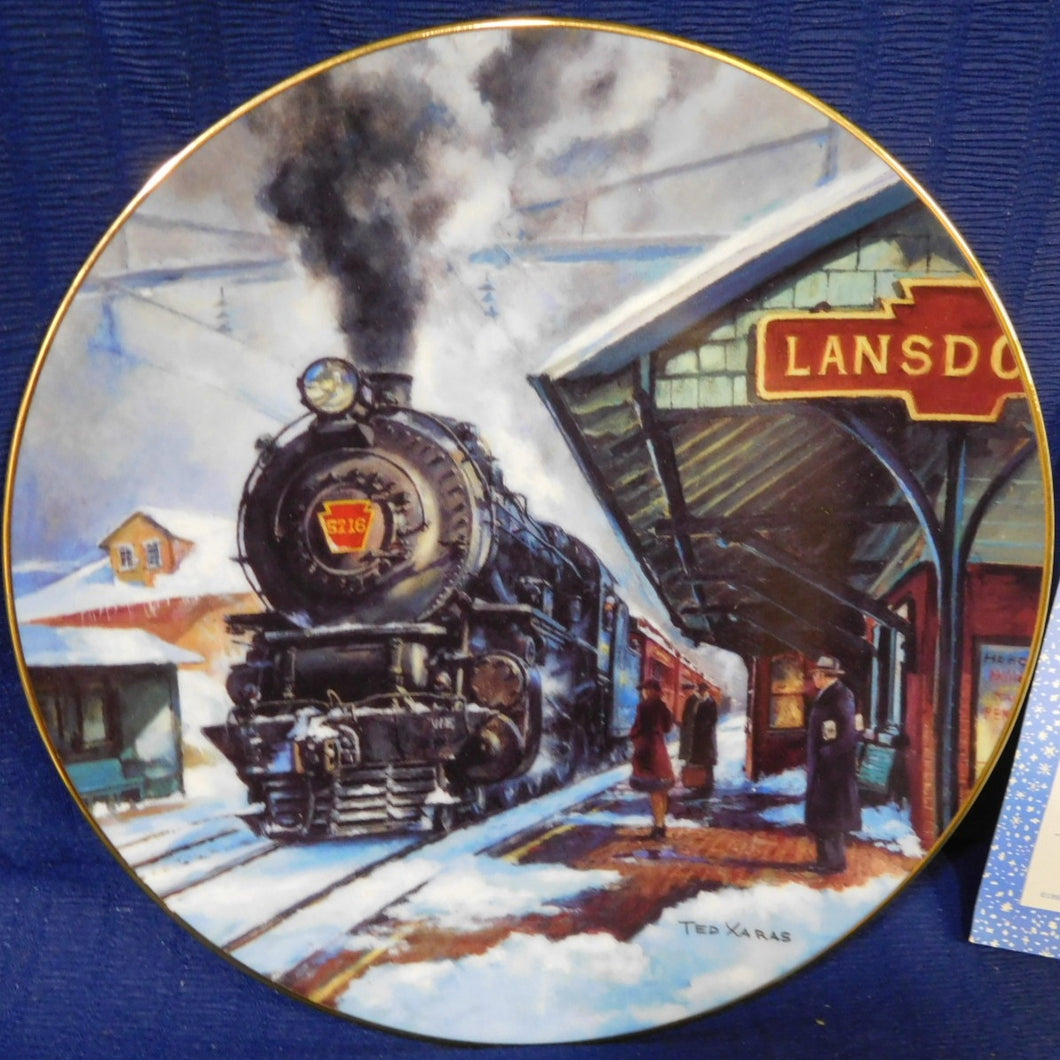 Winter Rails Plate Collection Lansdowne Station by Ted Xaras The Hamilton Collection