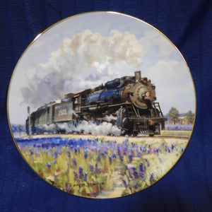 Romance of the Rails Plate Collection Blue Bonnet by David Tutwiler