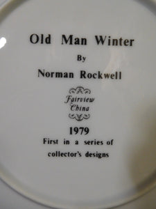 Norman Rockwell Old Man Winter Fairview China 1979