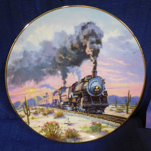 Romance of the Rails Plate Collection Sunset Limited by David Tutwiler