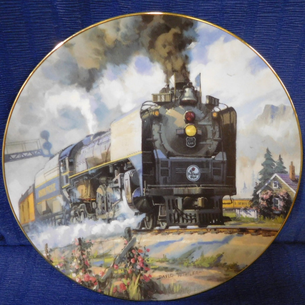 Romance of the Rails Plate Collection Portland Rose by David Tutwiler