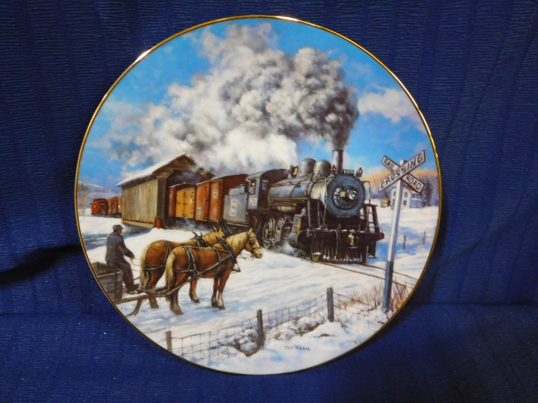 Winter Rails Plate Collection Country Crossroads by Ted Xaras The Hamilton Collection