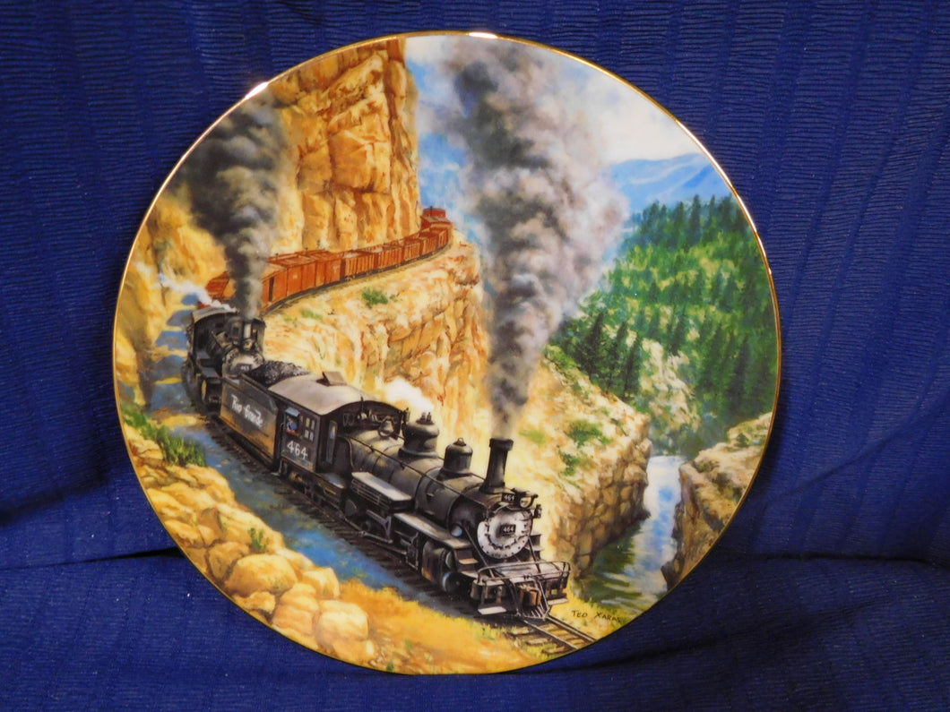 The Golden Age of American Railroads Above the Canyon by Ted Xaras The Hamilton Collection