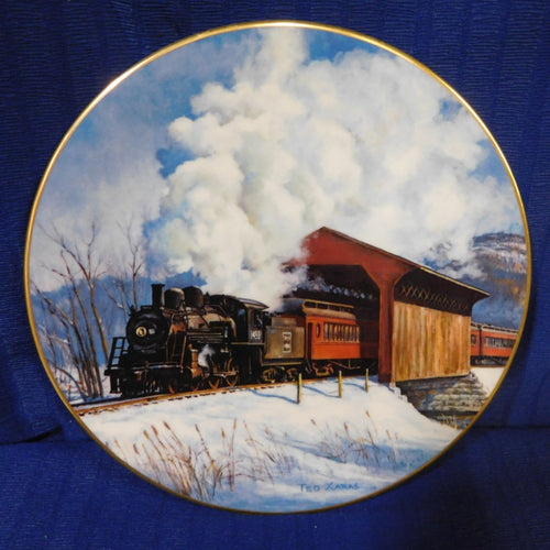 American Steam Winter on the Boston & Maine by Ted Xaras SIGNED