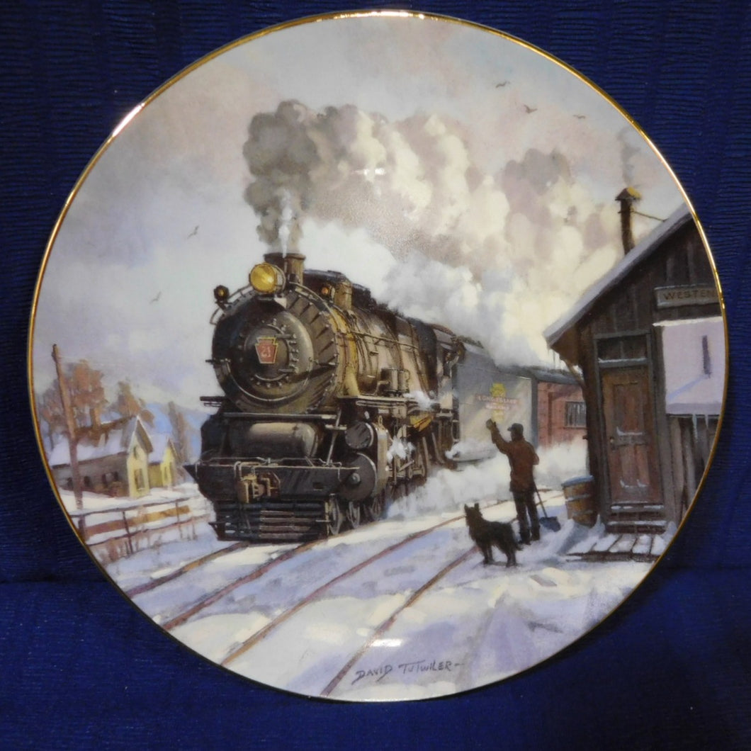 Romance of the Rails Plate Collection Sunrise Limited by David Tutwiler