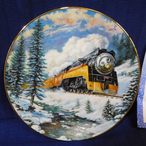 Winter Rails Plate Collection Daylight Run by Ted Xaras The Hamilton Collection