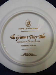 Grimm's Fairy Tales Sleeping Beauty Franklin Porcelain 1978