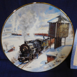 Winter Rails Plate Collection The Long Haul by Ted Xaras The Hamilton Collection