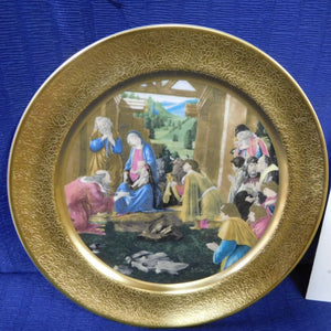 The Pickard Christmas Plate The Adoration of the Magi by Botticelli 1979