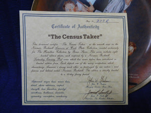The Norman Rockwell America at Work Plate Collection The Census Taker