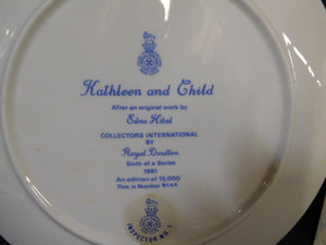 Kathleen and Child by Edna Hibel Collectors International Royal Doulton